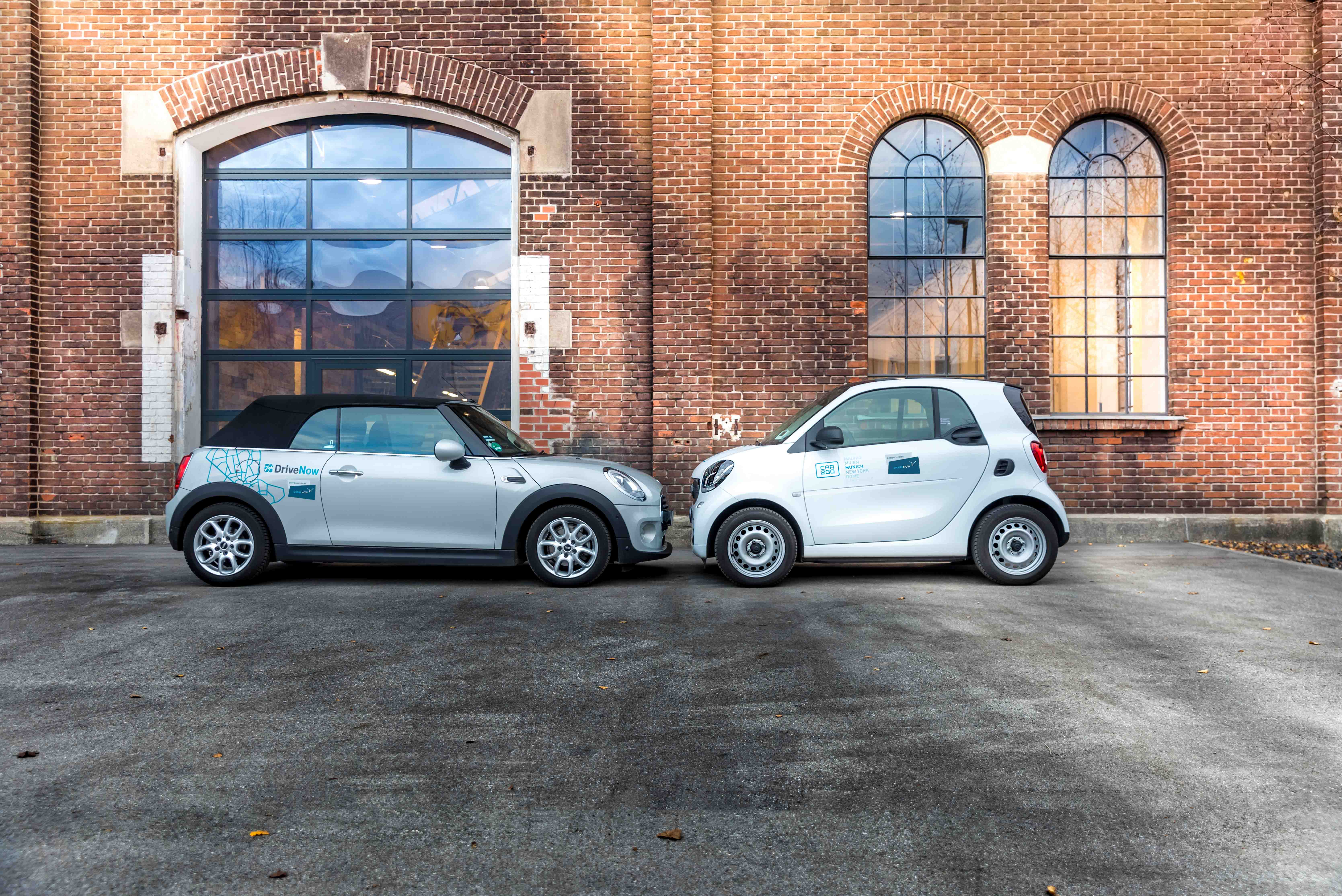 Mit DriveNow und Car2Go ab 48€ pro Tag Mini oder A-Klasse fahren!