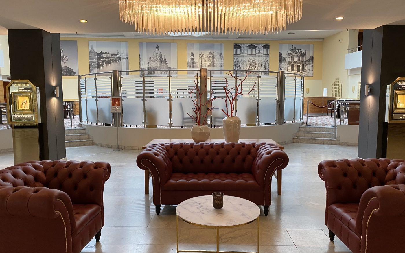 Lobby im Hilton Dresden